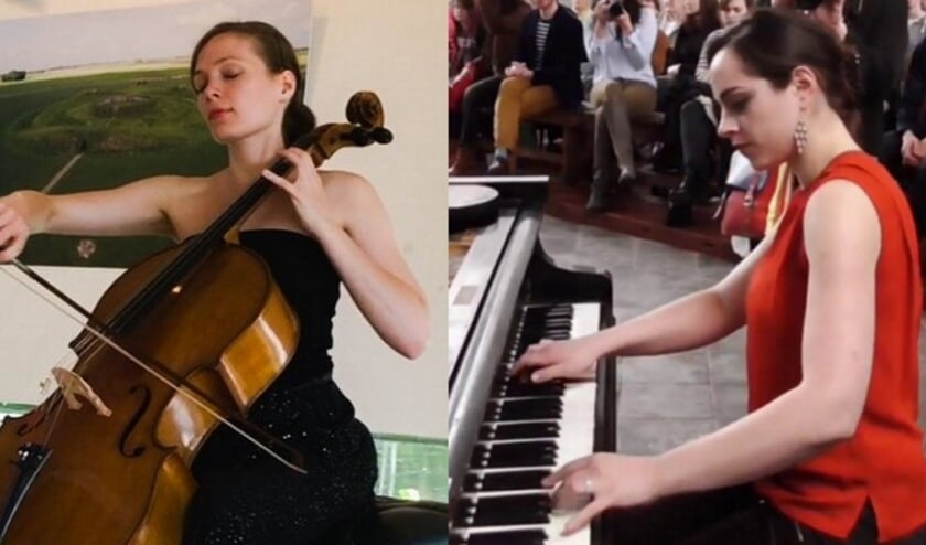 <p>Hanneke Rouw, cello, en Masha Galperina, piano. Ze treden zaterdag 19 september op in de Westerkerk.</p>