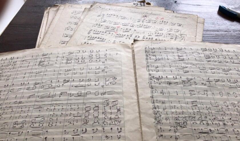 De partituur van de 'Helmondsch Feestmars'.