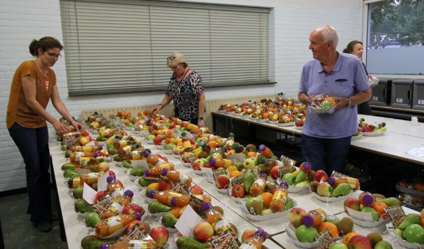 Hoeveel fruitmandjes? Veel!