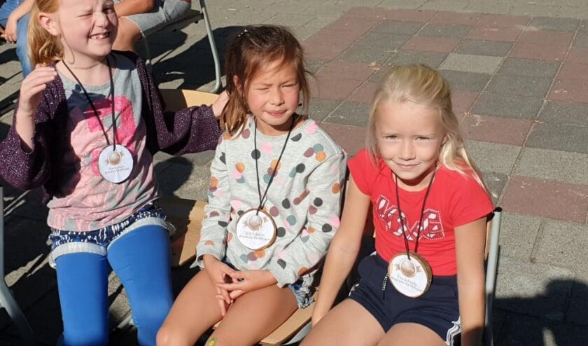 3 leerlingen met medaille