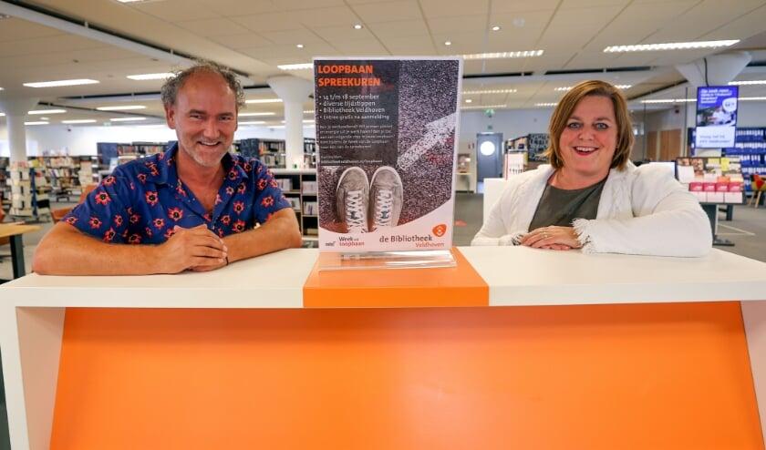 <p>Rob Smetsers en Corine van Holstein vormen samen de drijvende kracht achter de lokale versie van de Week van de Loopbaan. FOTO: Bert Jansen.</p>