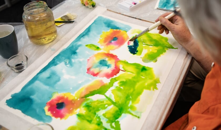schilderen met ecoline en water