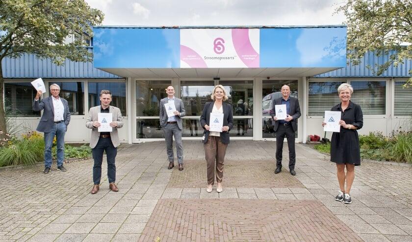 <p>Huub van Blijswijk (BOOR), Rene de Jonge (Zellingen), Frans v.d. Meij (Ijsselgemeenten), Marjolein Tasche (Franciscus), Richard Scalzo (MEE) en Desiree Curfs (Stroomopwaarts). </p>