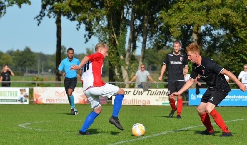 <p>Spelmoment uit de wedstrijd: ONA &#39;53 en Terschuurse Boys. Na een 0-0 ruststand, besliste de thuisclub het duel uiteindelijk in de tweede helft. Het werd in Wageningen 2-0.</p>