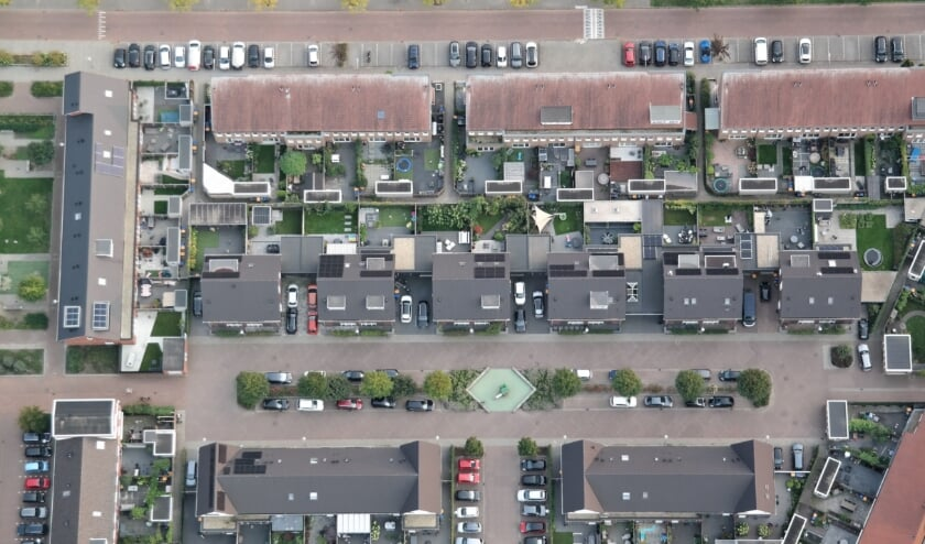 <p>Zo ziet de &nbsp;Buitenhuishof in Veenendaal-oost er van boven uit...</p>