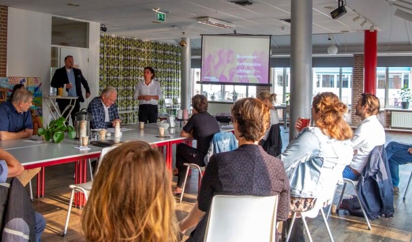 <p>Workshop voorbereiding Beursvloer Harderwijk.&nbsp;</p>