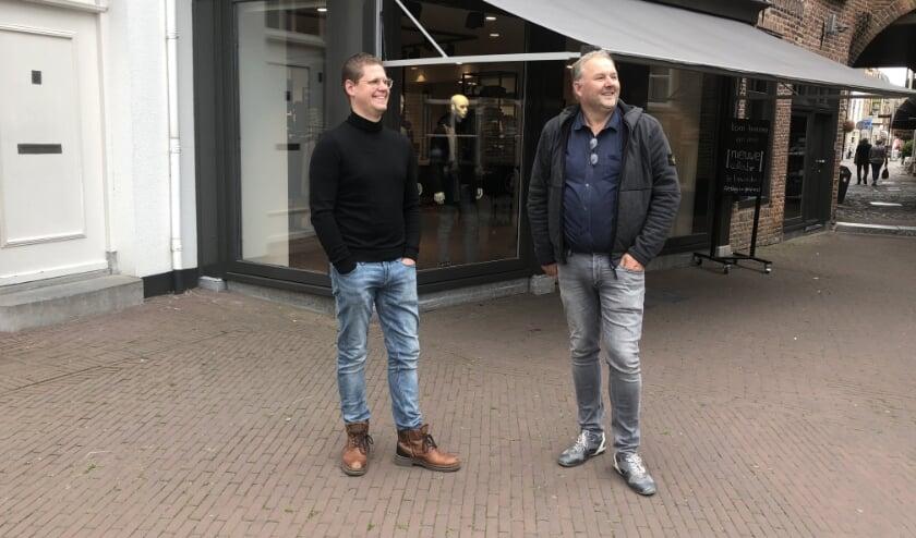 Jasper van Everdingen en Willem Jan Coenmans zijn de kartrekkers van het lokale initiatief 'Wees loyaal, koop lokaal'.