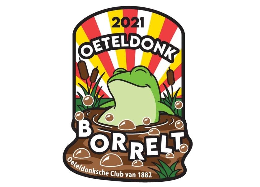 Het embleem van Oeteldonk 2021. Ontworpen door Robin Bastens