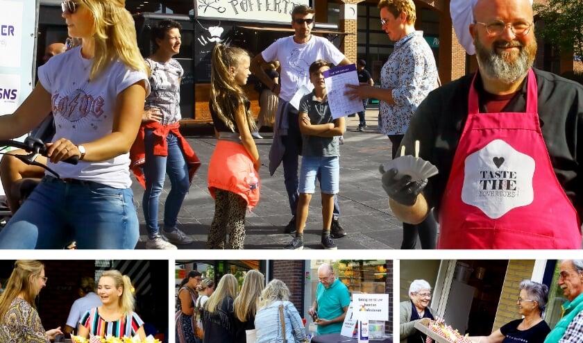 Veel lachende gezichten op Nijverdal. Tevreden mensen vormden de rode draad het afgelopen weekend. (Foto: Jan Broekman)