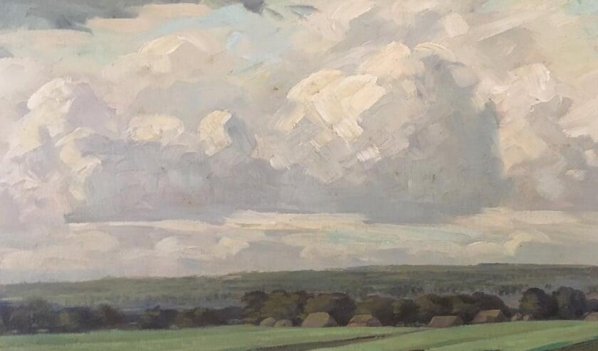 <p>Het schilderij Hoge Esch dat al door een gelukkige Te Lintelo-bezitter is ingezonden voor de Interactieve Kunst Galerij (IKG) van het Rijssens Museum.&nbsp;</p>