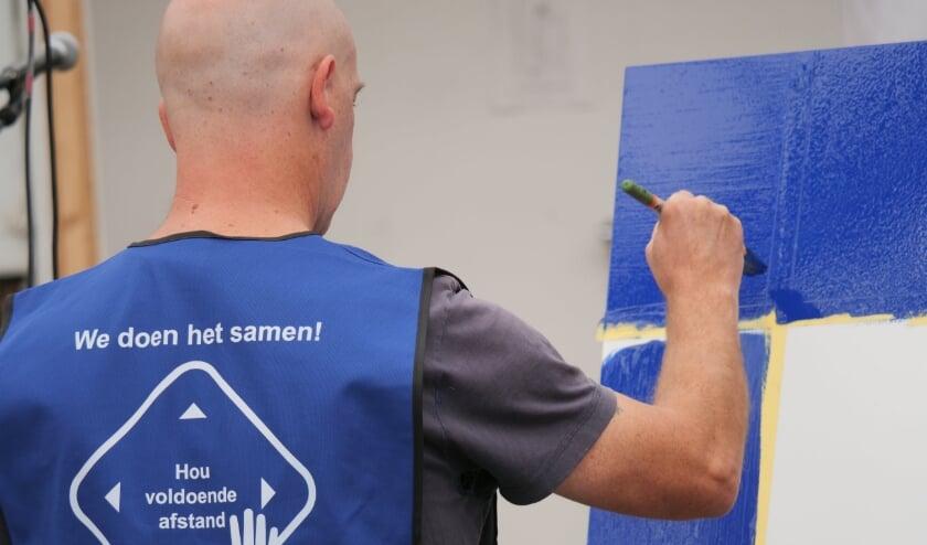 Utrechters en Nieuwegeiners zonder baan maakten kennis met het schildersvak. Foto: Gerbrand Langenberg