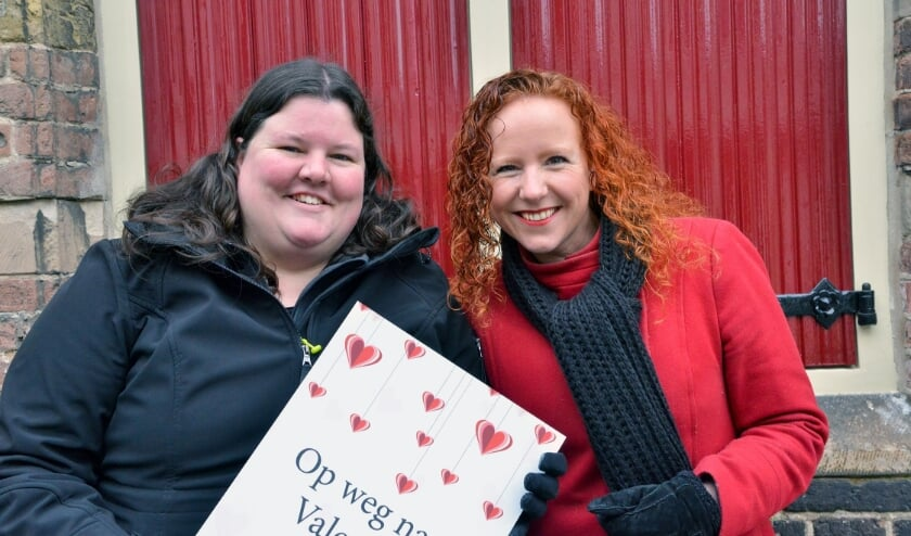 <p>Op weg naar Valentijn, met medeorganisator en penningmeester Jessica Rateland van de Stichting Pracht in de Kracht en de Amersfoortse zangeres/dichter Pauline van den Boogert.&nbsp;</p>