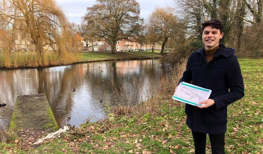 <p>Jelle Olrichs deed voor zijn opleiding Watermanagement &nbsp;onderzoek naar de uitdagingen en kansen voor de Landgoederenzone in Rijswijk. Het rapport wat hij hierover schreef werd door de gemeente Rijswijk enthousiast ontvangen.&nbsp;</p>