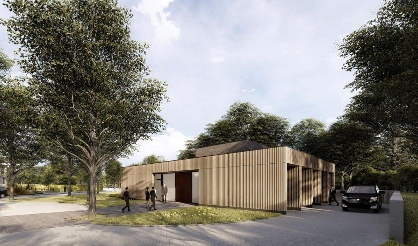 <p>Sfeerimpressies van het nieuwe crematorium op begraafplaats Munnikensteeg.&nbsp;</p>