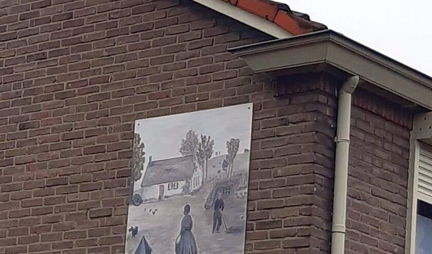 Muurschildering in Silvolde.