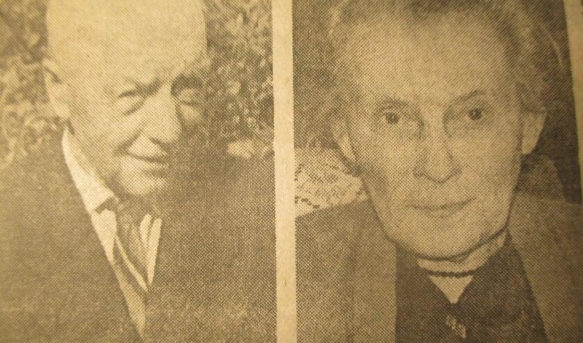 <p>Marinus Bulterman en zijn vrouw Geertruida Bulterman-Heitink. (Graafschapbode 1985) </p>
