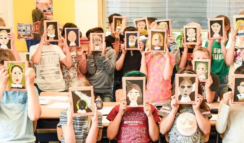 <p>De Gouden Eeuw verbeeld, een voorbeeld van cultuureducatie op school. </p>