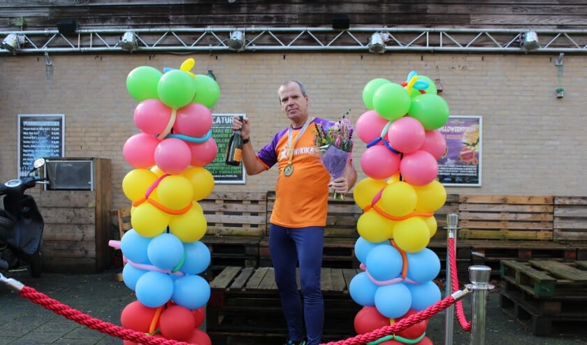 <p>Sportwethouder Gert-Jan Schotanus (49) liep een solomarathon voor KiKA. FOTO: Petra Blouw</p>
