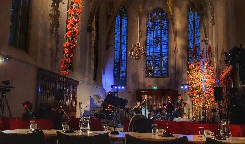 <p>Archieffoto van de soundcheck van You&#39;ve Got Talent 2020 in de Grote Kerk. &quot;Dit jaar even niet, maar in 2022 zijn we er weer!&quot; Foto: Dennis Dekker</p>