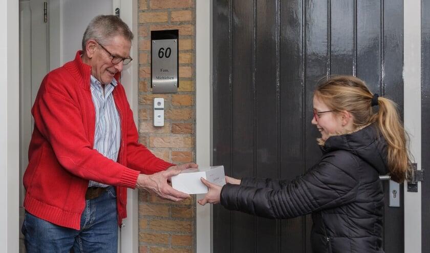 <p>Op &nbsp;21 januari kon Mirthe alsnog een lekkere Bossche Bol geven aan opa en oma.</p>