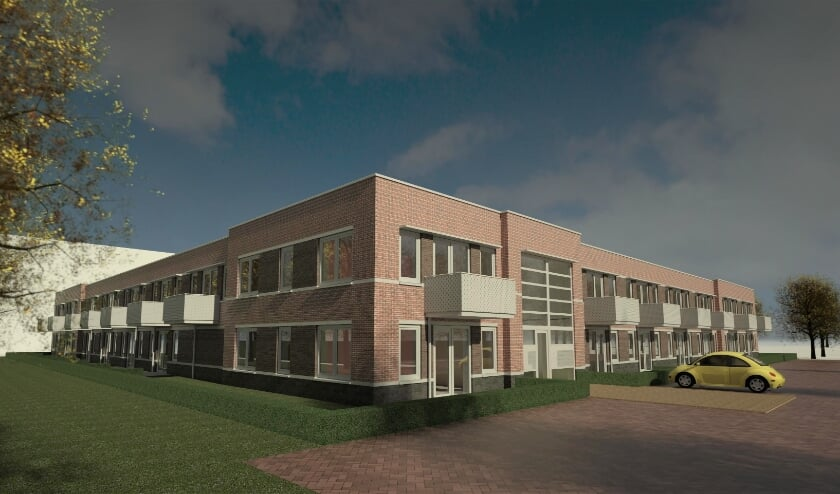 <p>De 55plus-woningen komen op de begane grond en krijgen een terras, de jongerenwoningen komen op de eerste verdieping en krijgen een balkon. Afbeelding: BBHD architecten </p>