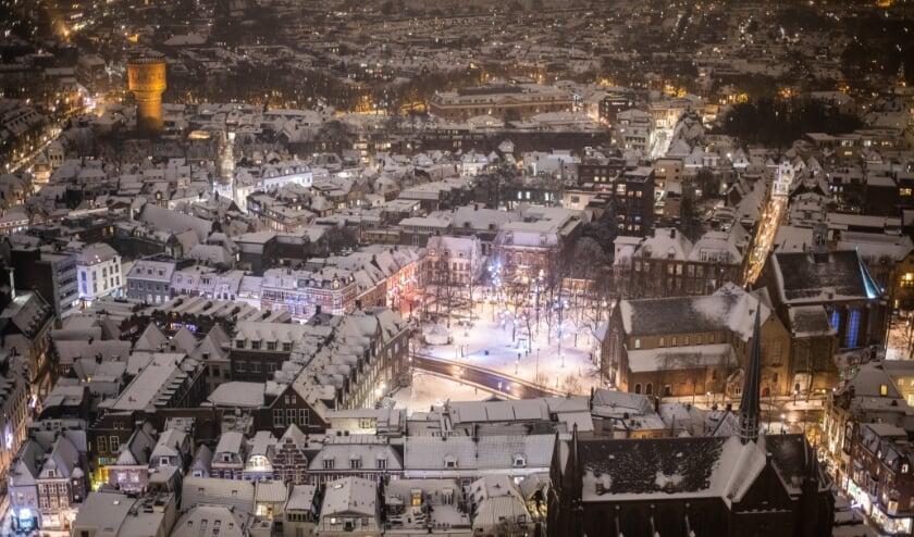 <p>Utrecht was voor even wit. Foto: Utrecht Marketing/Robert Oosterbroek</p>