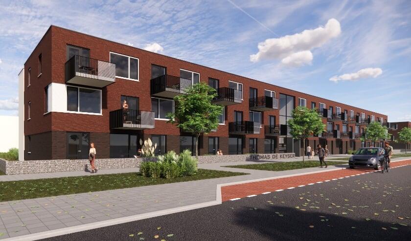 <p>Artist Impression van de nieuwbouwplannen &rsquo;Thomas de Keyserstraat </p>