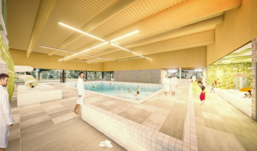 <p>Een eerste sfeerimpressie van het nieuwe zwembad. (Foto: pr)</p>
