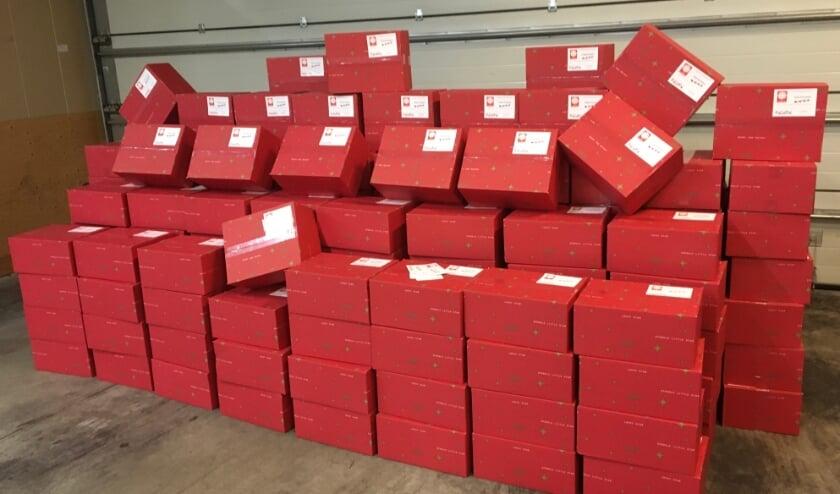 <p>231 kerstpakketten staan klaar.</p>