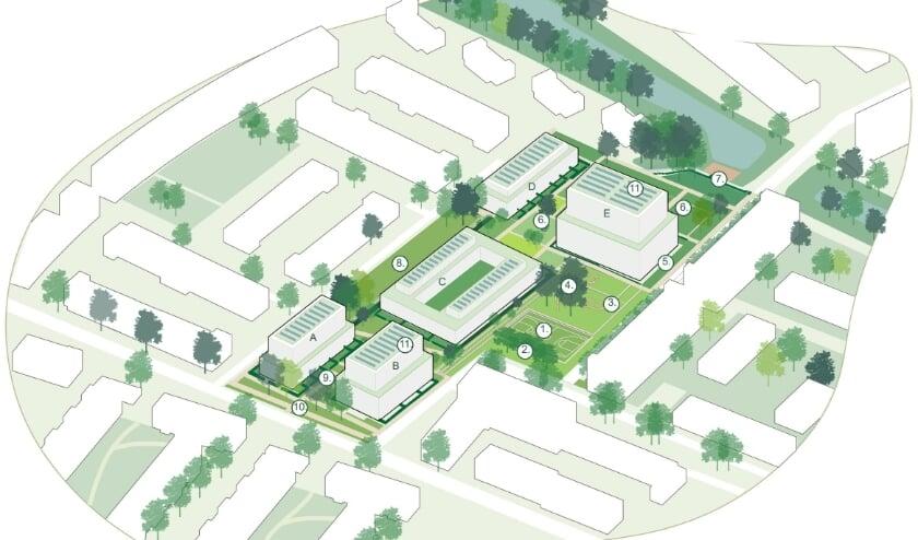 <p>Het Wibautplein krijgt een nieuwe inrichting, waardoor de wijk Nieuwland opnieuw een positieve impuls krijgt. (Foto: Priv&eacute;)&nbsp;</p>