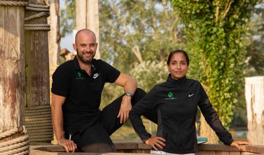 <p>Urmilla, hier samen met Oscar met wie ze al drie jaar samenwerkt zoals bij Fitnessclub Tiel die dit jaar ook in de Fitness-award prijzen viel.</p>