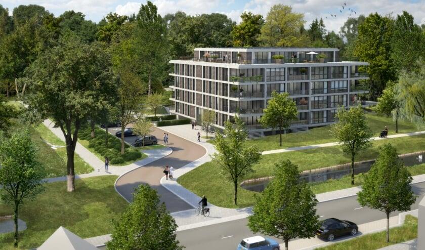 <p>Zo komt het appartementencomplex aan de Buizerdstraat eruit te zien. (Foto: pr)</p>