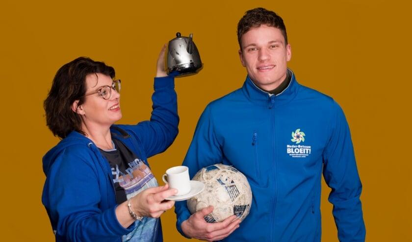 De buurtsportcoach, Gerjan van Stralen en sociaal werker Esther Morren zullen meerdere sport- en welzijnsactiviteiten organiseren.