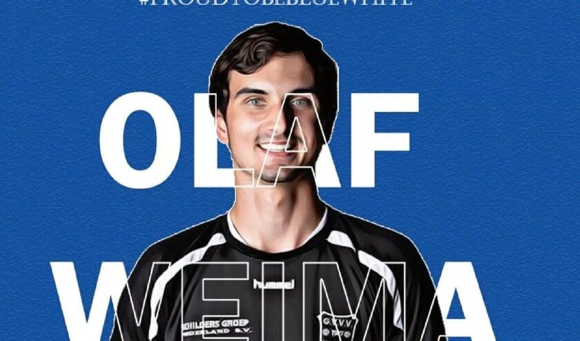 Olaf Weima is het derde talent uit de eigen jeugdopleiding die de stap naar de A-selectie maakt.