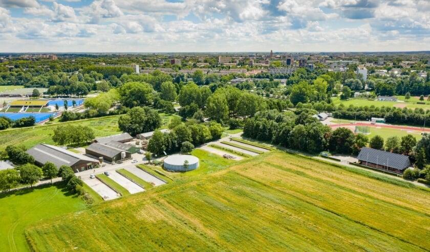 <p>Luchtfoto van de Dijklanden.</p>