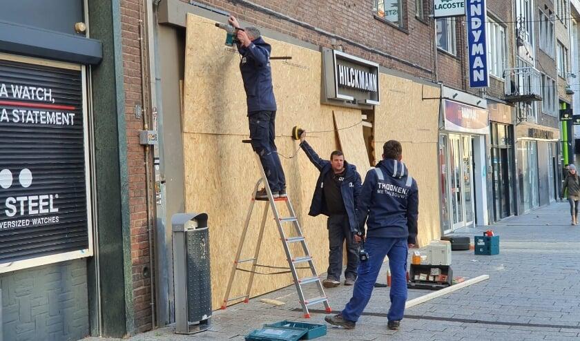<p>Ondernemers aan Plein '44 vrezen het ergste. (Foto: indebuurt.nl/nijmegen)</p>
