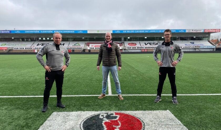 <p>Van links naar rechts; Wil Boessen, Philippe van Esch en Frank van Kempen.</p>