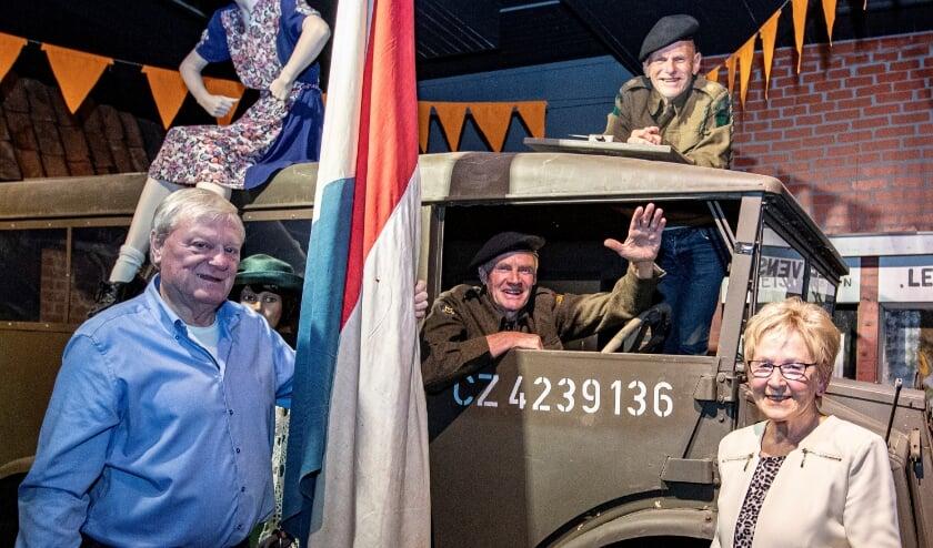 v.l.n.r. Herman Kampman, Leo Steur, Johan Huis in 't Veld, Henny Greevink