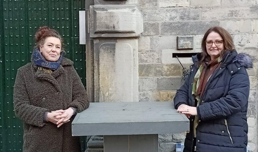 <p>Nathalie Bosman (links) en Esther Sens-Hansen( rechts) (foto: Gitta Fleuren).</p>