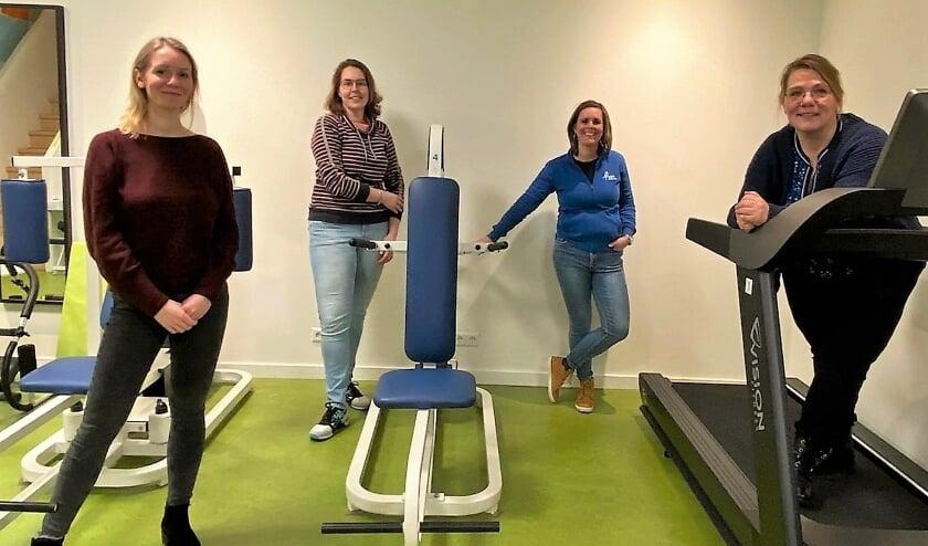 Vlnr: Chiara Boogaard (logopedist), Laura van Beurden (diëtist), Manon de Langen (fysiotherapeut), Petra Melkert (ergotherapeut)