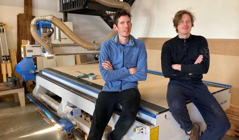 <p>Mark de Langen (links) en Erwin de Koning</p>