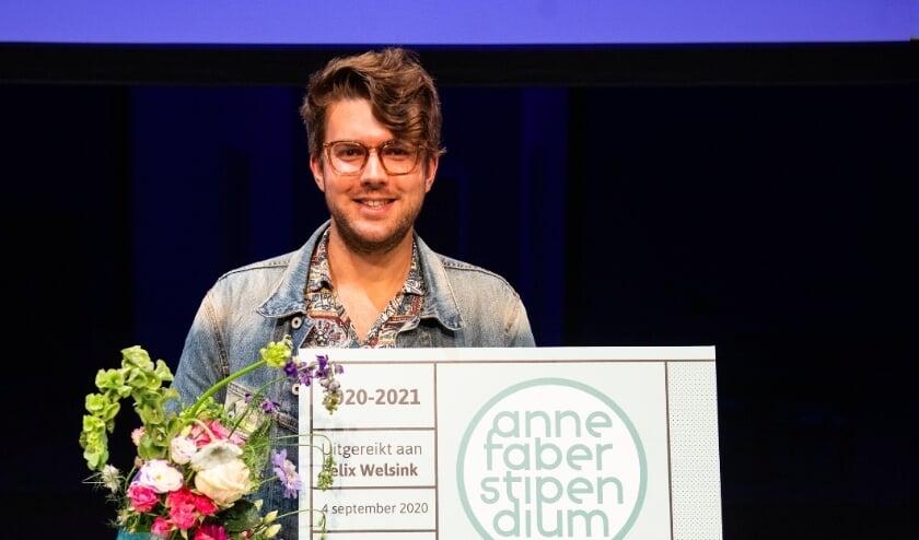 <p>Felix Welsink ontving in september het Anne Faber Stipendium. Aanmelden voor dit jaar kan nog tot en met 12 maart. Foto: Het Huis Utrecht&nbsp;</p>