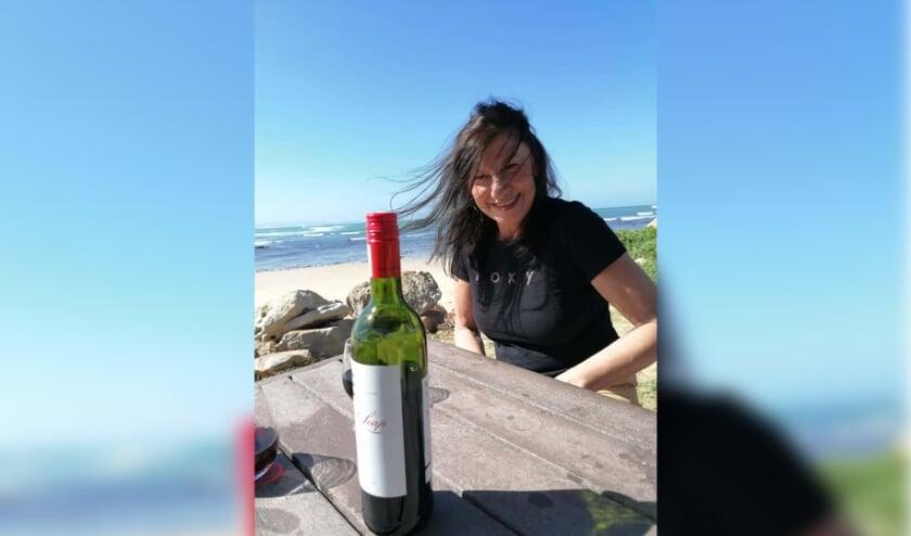 <p>Wilma Vervoort in Zuid-Afrika.&nbsp;</p>