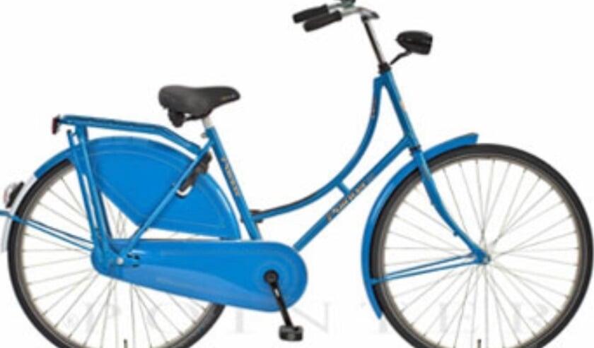 blauwe CU-fiets