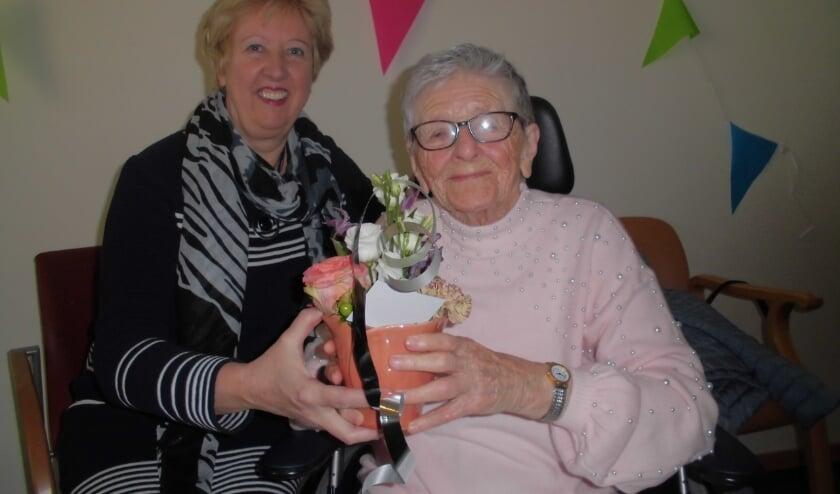 <p>Jo Peeters tijdens haar 94e verjaardag, twee jaar geleden.</p>