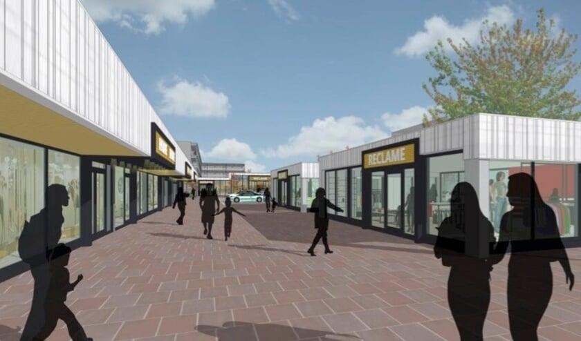 <p>Sfeerimpressie van de uitbreiding en renovatie van winkelplein Kort Ambacht. (Foto: pr)</p>