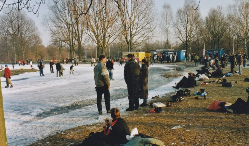 De eerste winter van IJD op de oude baan op Sportpark-Zuid (foto Karel Berkhuysen)