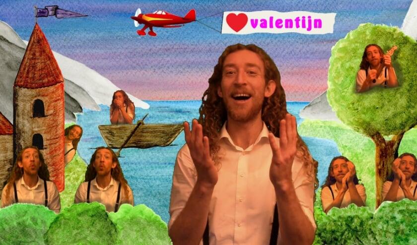 <p>Wie wil dat nou niet: je geliefde een romantische serenade brengen op Valentijnsdag! Die taak neemt Tijl Damen graag op zich.&nbsp;</p>