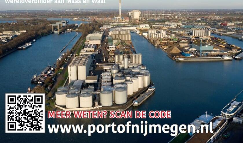<p>De binnenhaven van Nijmegen.</p>