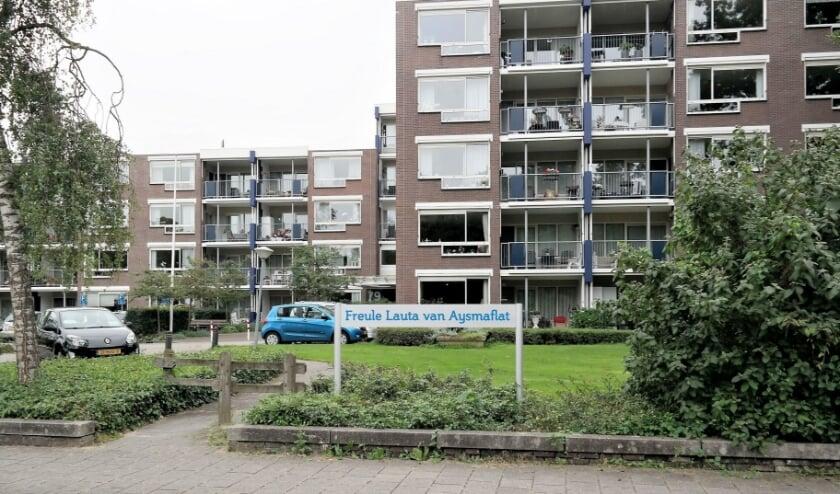 <p>De Freule Lauta van Aysma-flat aan de Kerkewijk waarvan de stichting investeerde in een dubieus project. (Archieffoto 2017, Aart Aalbers)</p>